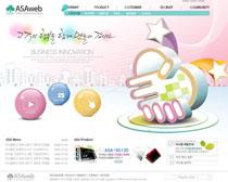 韓國科技公司產業網站PSD源文件