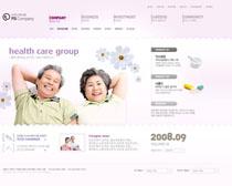 健康老年人网站PSD源文件