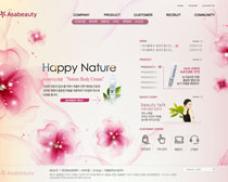 韩国化妆品网站设计PSD源文件