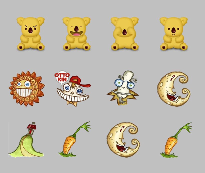 动物表情和动态PNG卡通-爱图网设计图片素材图标包好植物祝福图片早上问候图片