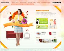 环境家居网站设计PSD源文件