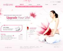 女性瘦身计划网站PSD源文件