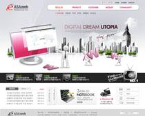 商务公司网站设计PSD源文件