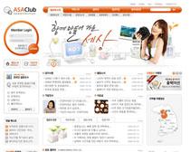 韩国生活门户网站PSD源文件