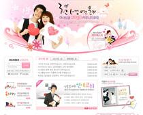 愛情韓國網站設計PSD源文件