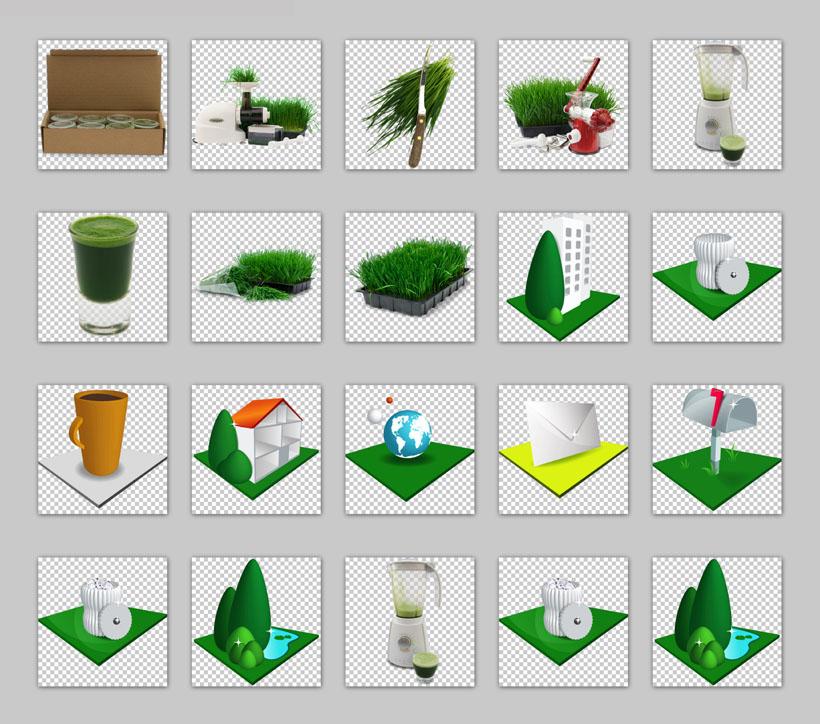绿色植物png图标