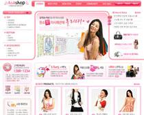 女性服裝類網站PSD源文件