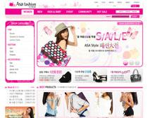 女性服裝網站PSD源文件