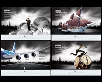 管理创新企业文化展板设计PD素材