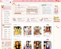 韓國服裝網店模板PSD源文件