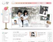 女孩服裝網站模板PSD源文件
