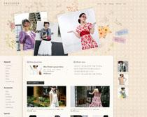 时尚女性服装网站PSD源文件
