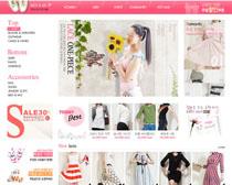 韓國女性服裝網店PSD源文件
