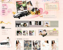 時尚女孩服裝網站PSD源文件