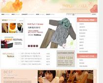 网店服装模板网站PSD源文件