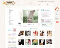 女装设计网站PSD源文件