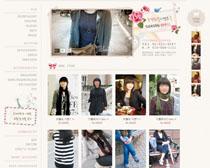 女性服装搭配网站PSD源文件