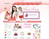 女性裝飾網站設計PSD源文件