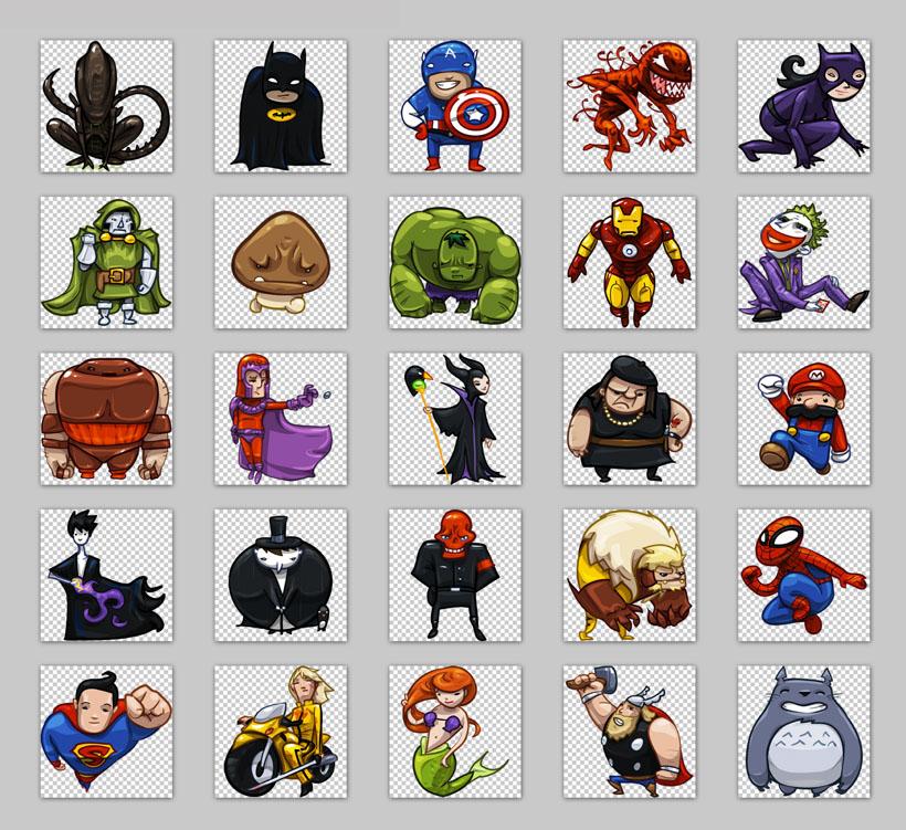 卡通风格蜘蛛侠png图标