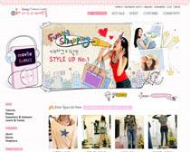 服装店网站模板PSD源文件