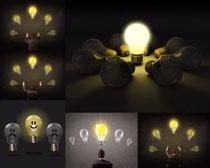 创意 节省/节省创意灯泡摄影高清图片