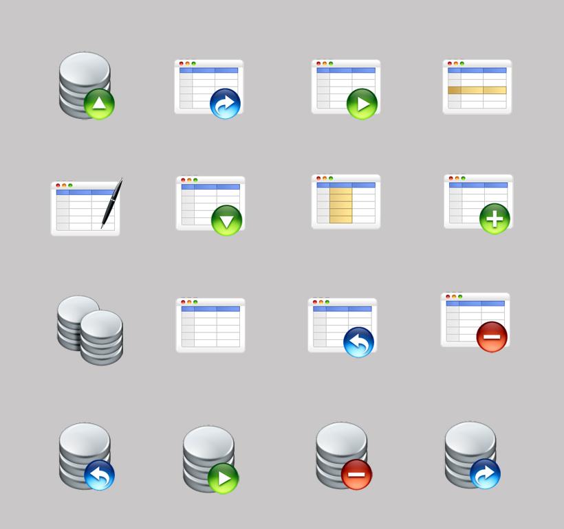 表格数据库png图标图片