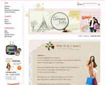 服装品牌店网站PSD源文件