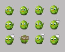 Twitter绿色的小鸟PNG图标