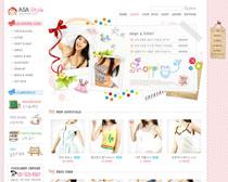 女性服装网店设计PSD源文件