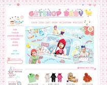 寶寶服裝玩具網店PSD源文件