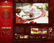 西餐厅网站模板PSD源文件