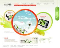 数码产品网站模板PSD源文件