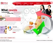 韓國數據分析網PSD源文件