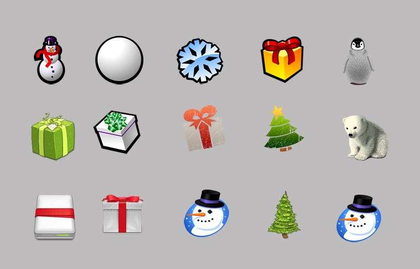 卡通风格圣诞树png图标