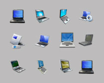 高清笔记本电脑模型PNG图标