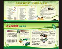 环保宣传栏展板设计矢量素材