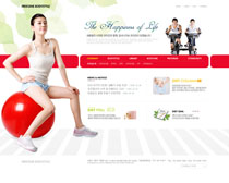 健身网站模板PSD源文件
