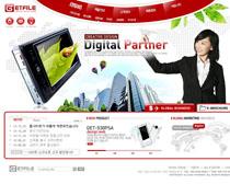 韩国数码企业公司网站PSD源文件