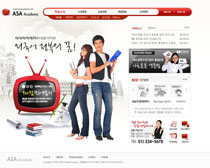 韩国教师网站PSD源文件
