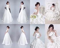 国外白衣新娘摄影高清图片