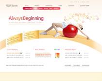 完美健身网站PSD源文件