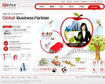 韩国产品网站PSD源文件