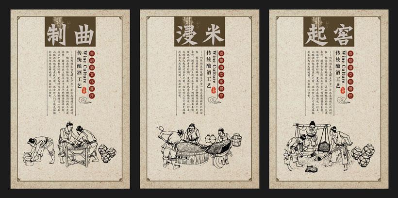酿酒文化展板设计psd素材图片