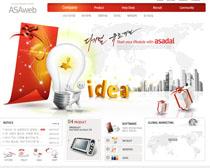 科技文化網頁設計PSD源文件