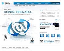 公司科技形像网站PSD源文件