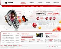 数码产品网站PSD源文件