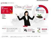 教育韓國網頁設計PSD源文件