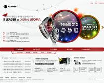 韓國手機產品網頁設計PSD源文件