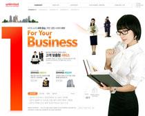 公司職業女性網站PSD源文件