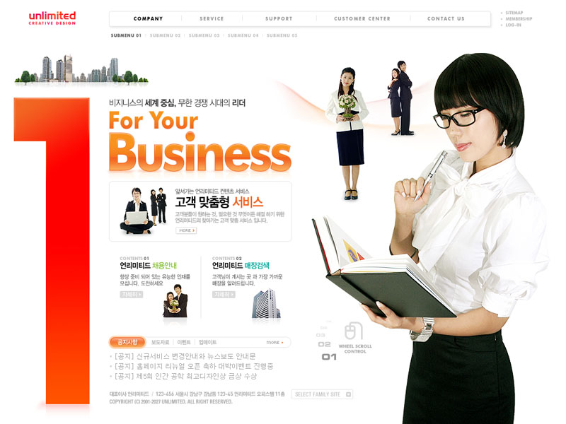 公司职业女性网站PSD源文件